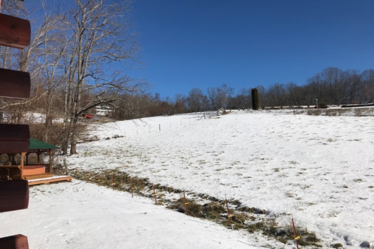 ... North Carolina Cabin Rental   Gallery Image #24. Fresh Snow In Field