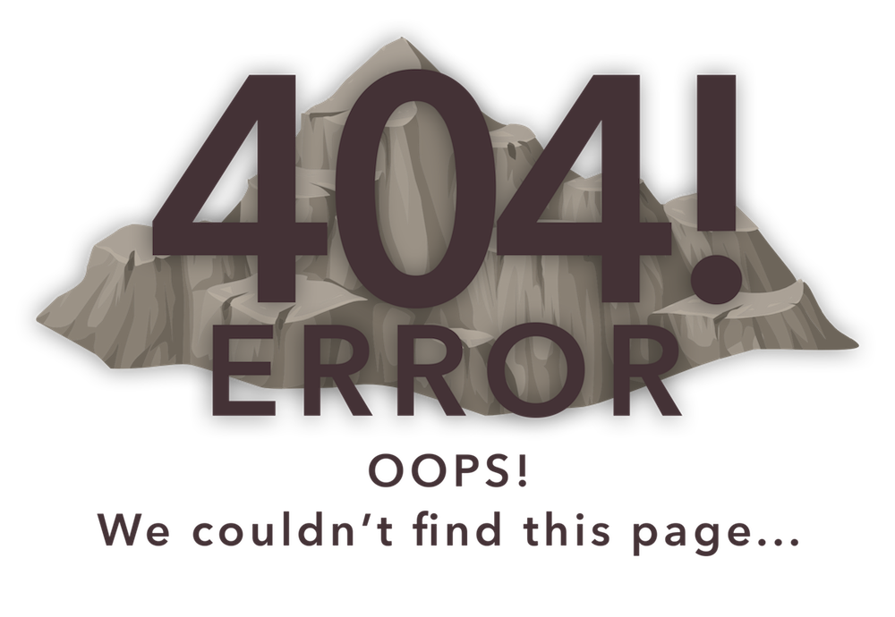 404 Error - Page Not Found